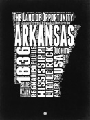 NAXART Studio - Arkansas Black and White Map