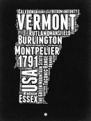 NAXART Studio - Vermont Black and White Map