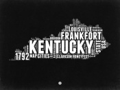 NAXART Studio - Kentucky Black and White Map