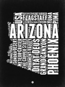 NAXART Studio - Arizona Black and White Map