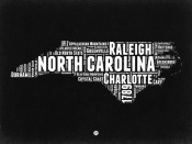 NAXART Studio - North Carolina Black and White Map