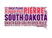 NAXART Studio - South Dakota Word Cloud Map