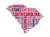 NAXART Studio - South Carolina Word Cloud Map
