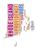 NAXART Studio - Rhode Island Word Cloud Map