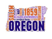 NAXART Studio - Oregon Word Cloud Map