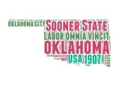 NAXART Studio - Oklahoma Word Cloud Map