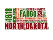 NAXART Studio - North Dakota Word Cloud Map