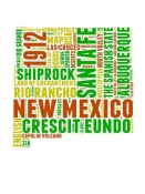 NAXART Studio - New Mexico Word Cloud Map