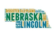 NAXART Studio - Nebraska Word Cloud Map