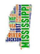 NAXART Studio - Mississippi Word Cloud Map