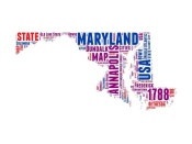 NAXART Studio - Maryland Word Cloud Map