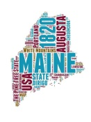 NAXART Studio - Maine Word Cloud Map