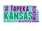 NAXART Studio - Kansas Word Cloud Map