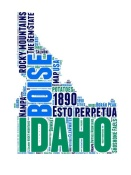 NAXART Studio - Idaho Word Cloud Map