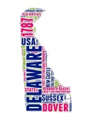 NAXART Studio - Delaware Word Cloud Map