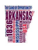 NAXART Studio - Arkansas Word Cloud Map