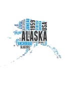NAXART Studio - Alaska Word Cloud Map