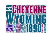 NAXART Studio - Wyoming Word Cloud Map