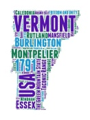 NAXART Studio - Vermont Word Cloud Map