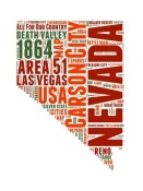 NAXART Studio - Nevada Word Cloud Map
