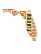 NAXART Studio - Florida Word Cloud Map