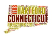 NAXART Studio - Connecticut Word Cloud Map