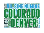 NAXART Studio - Colorado Word Cloud Map