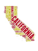 NAXART Studio - California Word Cloud Map