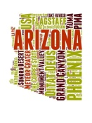 NAXART Studio - Arizona Word Cloud Map