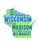NAXART Studio - Wisconsin Word Cloud Map