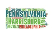 NAXART Studio - Pennsylvania Word Cloud Map