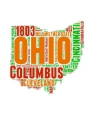 NAXART Studio - Ohio Word Cloud Map