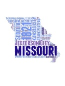 NAXART Studio - Missouri Word Cloud Map