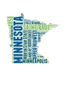 NAXART Studio - Minnesota Word Cloud Map