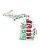 NAXART Studio - Michigan Word Cloud Map