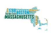NAXART Studio - Massachusetts Word Cloud Map