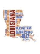 NAXART Studio - Louisiana Word Cloud Map