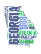 NAXART Studio - Georgia Word Cloud Map