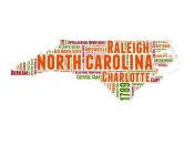 NAXART Studio - North Carolina Word Cloud Map
