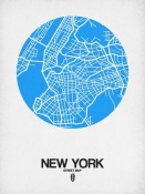 NAXART Studio - New York Street Map Blue