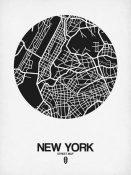 NAXART Studio - New York Street Map Black and White