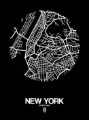 NAXART Studio - New York Street Map Black