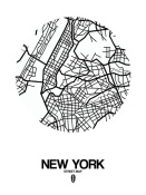 NAXART Studio - New York Street Map White