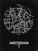 NAXART Studio - Amsterdam Street Map Black