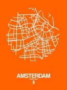 NAXART Studio - Amsterdam Street Map Orange