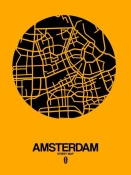 NAXART Studio - Amsterdam Street Map Yellow