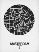 NAXART Studio - Amsterdam Street Map Black and White