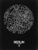 NAXART Studio - Berlin Street Map Black