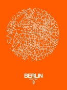 NAXART Studio - Berlin Street Map Orange