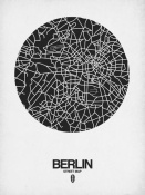 NAXART Studio - Berlin Street Map Black on White